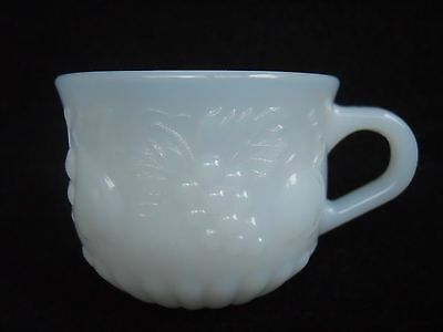 Jeanette Della Robbia Milk Glass Embossed Fruit Pattern Punch Cup Replacement