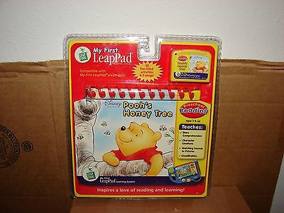 New 2001 Leap Frog My First Leap Pad Disney Pooh's Honey Tree Book & Cartridge