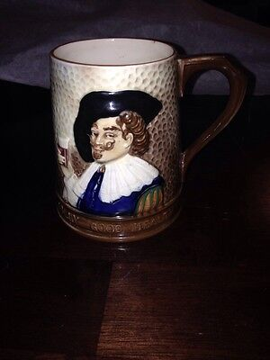 "FALCON WARE TANKARD ... ""LAUGHING CAVALIER"" ..HAND PAINTED & MADE in ENGLAND"