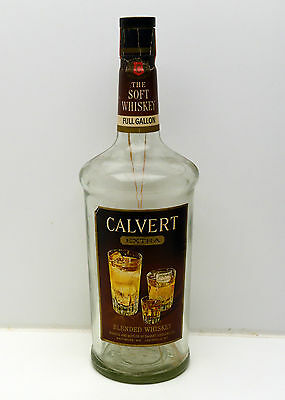 Vintage Calvert Extra The Soft Whiskey 1 Gallon Bottle (EMPTY) Large Rare