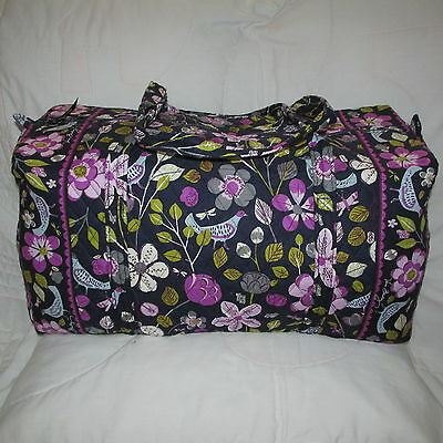 Vera Bradley NEW WITH TAGS FLORAL NIGHTINGALE Large Duffel  USA SELLER