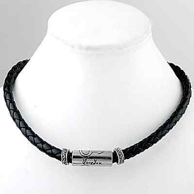 Sale Leather and Stainless Steel Men Jewelry Necklace Chocker Love Gift For Him