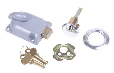 Garage Door Deadbolt Lock Kit - With 2 Keys & Mounting Hardware