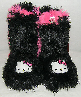 Hello Kitty Slipper Boots SHAGGY NICE GIFT FREE SHIPPING LADIES LARGE 9-10 NWT