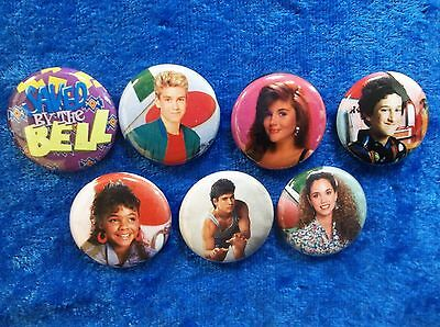 """1"""" pinback button set inspired  by """"Saved by the Bell """""""