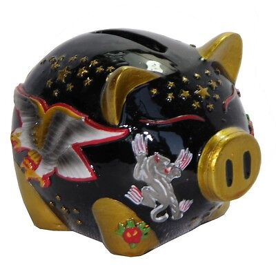 Hand Painted Flyer Piggy Bank