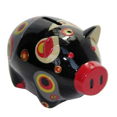 Hand Painted Paisley Piggy Bank