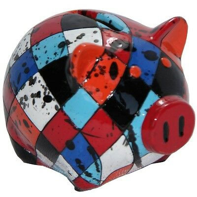 Hand Painted Colors Piggy Bank