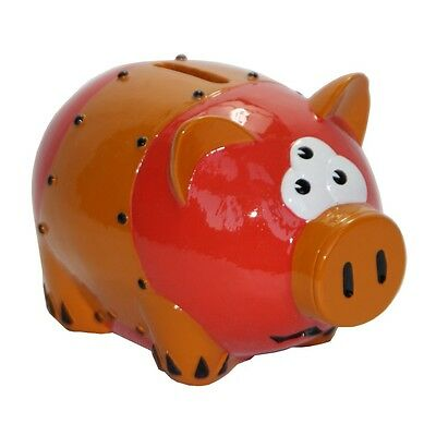 Hand Painted Confused Piggy Bank