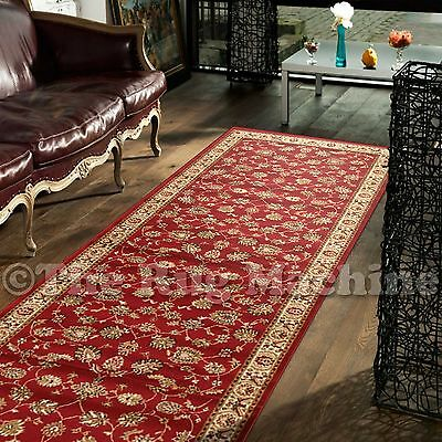 HERITAGE RED TRADITIONAL FLORAL ALLOVER DESIGN FLOOR RUNNER 80x300cm **NEW**