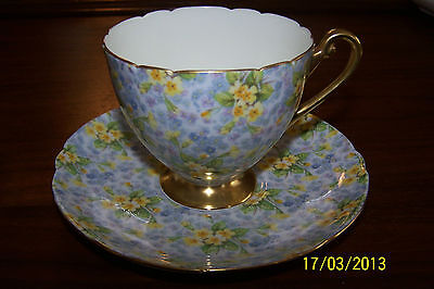 Shelley - Primrose Chintz - Ripon Style - #13589 - Teacup and Saucer