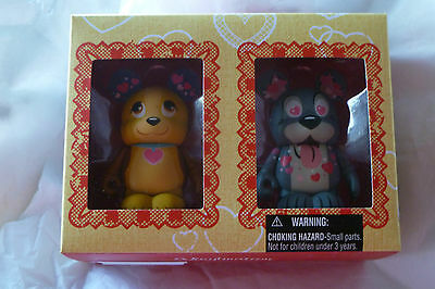 "Disney Vinylmation Lady and the Tramp 2 pack Valentine's Day 3"" figures LE"