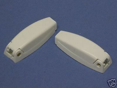 5-NEW White Baggage Door Clips for RV / Camper/ Travel Trailer