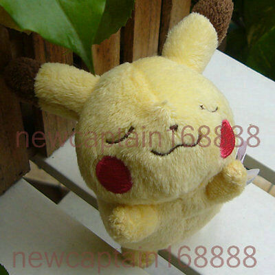 "New Pokemon 2012 Banpresto 3.5"" sleep Pikachu~~ Plush Doll Collectible Free Ship"