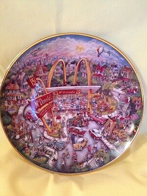 McDonalds Golden Moments Limited Edition Plate #HG4949. By Bill Bell