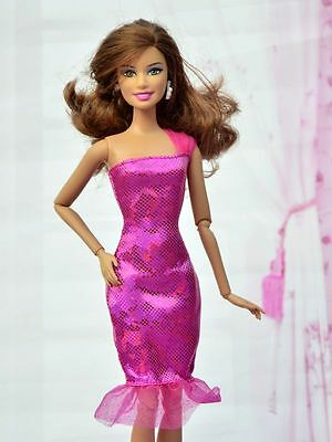 High quality Original wedding gown wears clothes Outfit  Barbie Doll Party A1733