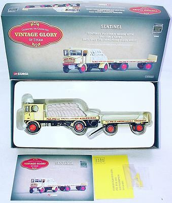 Corgi Toys 1:50 SENTINEL D64 STEAM WAGON & TRAILER + SACKS PAUL BROS. TRUCK MIB!