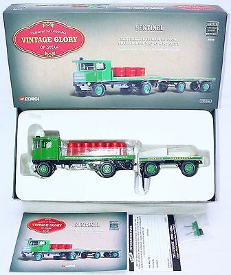 Corgi Toys 1:50 SENTINEL D64 STEAM WAGON & TRAILER + OIL DRUMS MORRIS TRUCK MIB!