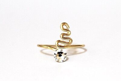 Adjustable Gold Plated Toe Ring made with Clear Swarovski Crystal Elements