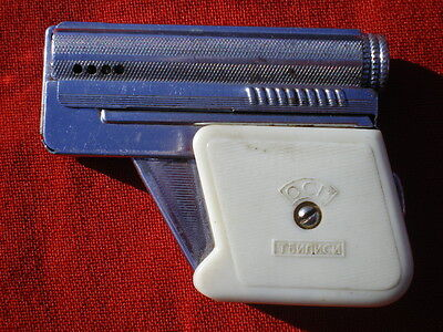 Russian Vintage Petrol Lighter  In A Shape Of A Small Pistol