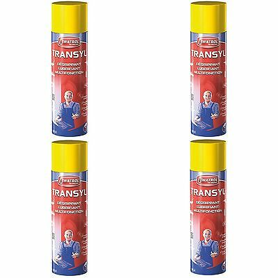 Lot De 4 Transyl Degrippant Lubrifiant Protege Spray 400 Ml