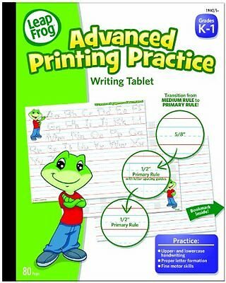 LeapFrog Advanced Printing Practice Writing Tablet with Ruled Guidelines for K-1