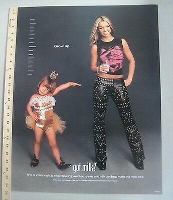 Got Milk advertising Promo Poster Britney Spears 2000 Grown Up 19 x 24.5