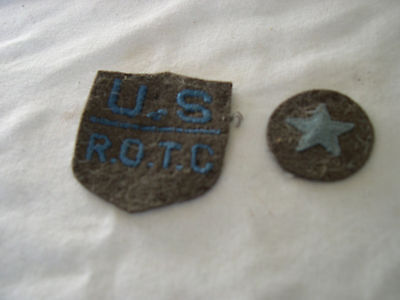 US ARMY EARLY 1930'S ROTC WOOL PATCH VARIATION