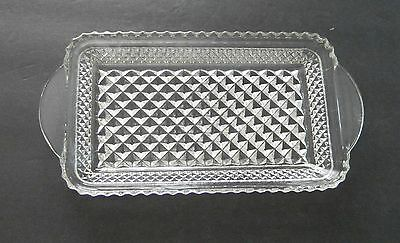 Vintage Anchor Hocking Wexford Rectangle Relish / Celery / Cranberry Dish /Plate