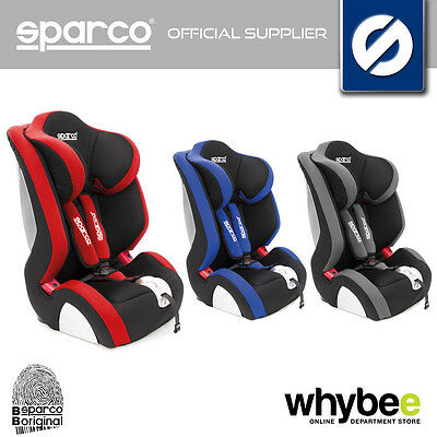 00926 SPARCO F1000 K CHILDRENS BABY CAR SEAT GROUP 1-2-3 9-36KG AGE 1 to 12 YRS