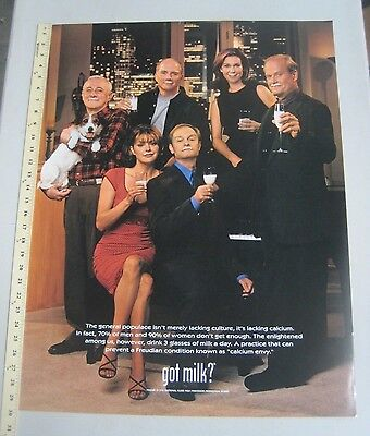 Got Milk advertising Promo Poster Frasier 1998 Kelsey Grammer 23 x 30