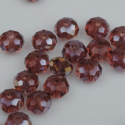 DIY Jewelry Faceted 30pcs purple red ab #5040 6x8mm Roundelle Crystal Beads