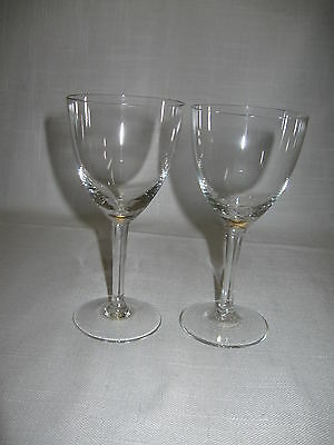 Crystal Clear Glass Round Stem Cordial Goblet Wine Glass 3 Ounces Qty 2