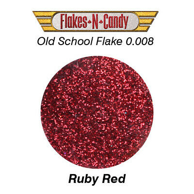 Metal Flake Glitter (0.008) Custom Metal Flakes 30G Ruby Red