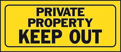 Sign Private Property Keep Out