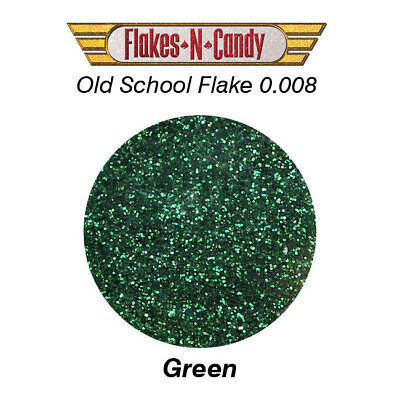 Metal Flake Glitter (0.008) Custom Paint Metal Flakes 30G Green