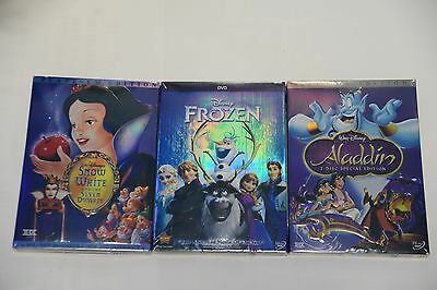 Aladdin  &  Snow White and the Seven Dwarfs & Frozen Lot of 3 Disney's DVD