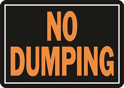 Sign No Dumping 10X14In Alum
