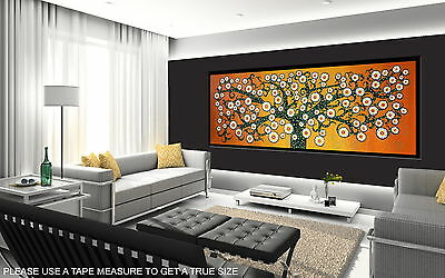 150cm x 50cm  ART PAINTING PRINT TREE OF LIFE ABORIGINAL canvas not framed