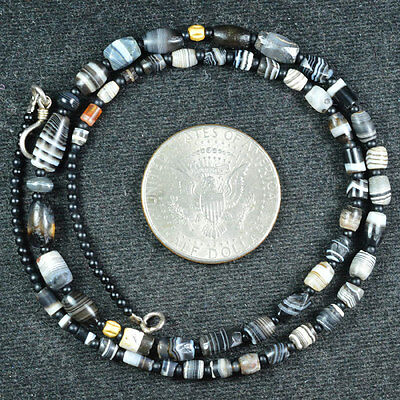 Ancient Islamic Pyu Agate Beads Suleiman 53 Beads Top Necklace 2000 Years Old 03
