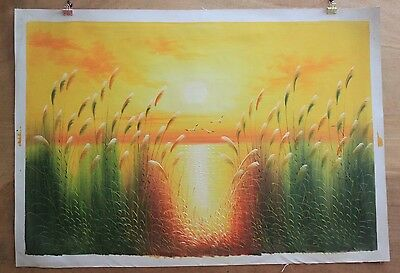 Hand made Modern abstract Oil Painting on Canvas Scenery no frame #A181