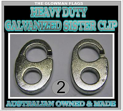 sister clip sister clips gal Galvanised boat boating marine nautical 2 total