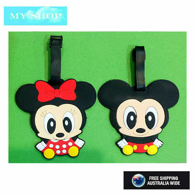 Disney Baby Micky Minnie  Name Tag, Id Lable For Luggage, Suitcase, School Bag