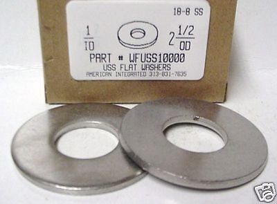 "1"" USS Flat Washer 18-8 Stainless Steel, 2-1/2"" OD. (1)"
