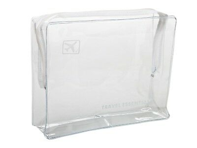 Holiday Travel Toiletry Cosmetic Airport Airline Approved Clear Plastic Bag