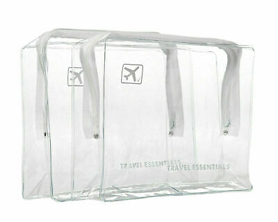 Holiday Travel Clear Bag Airline Airport Customs Compliant Cosmetic Wash Bag X 2