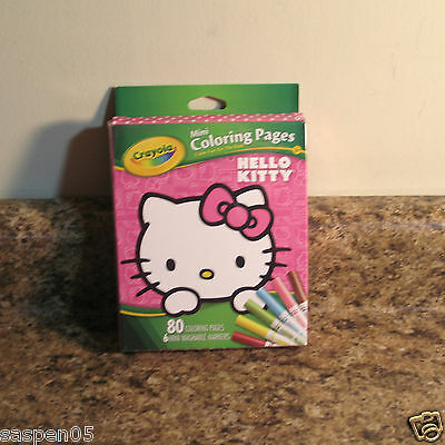 Crayola Hello Kitty Mini Coloring Pages with Markers Art Set NEW