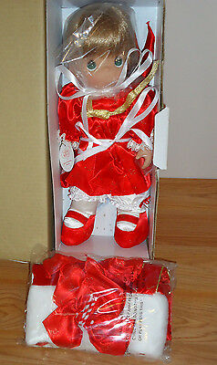 Precious Moments Porcelain Christmas Stocking Doll #4098 w/Box 2008