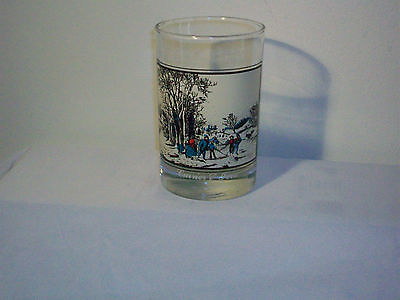 Vintage Collectible Arby's Currier & Ives Glass 1981 Winter Pastime