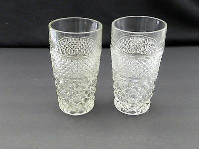 Wexford Anchor Hocking Flat Water Tumbler Glasses Qty of Two 5 1/2 inches